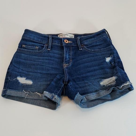 Girls Abercrombie kids Denim Shorts Size 11/12